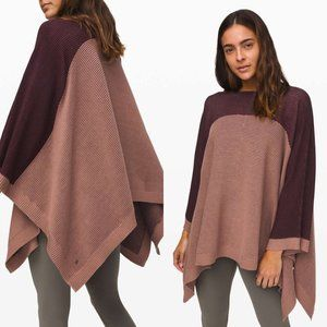 Lululemon It All Lines Up Poncho Pink One Size